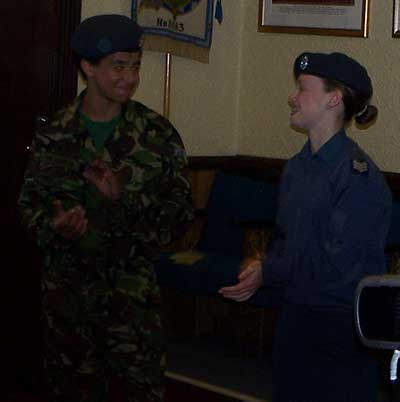 Air Cadets at Buckley Mark Lodge
