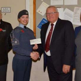 NWMBF donation to Air Training Corp