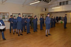 2480 (Holywell) Squadron Air Training Corp on parade